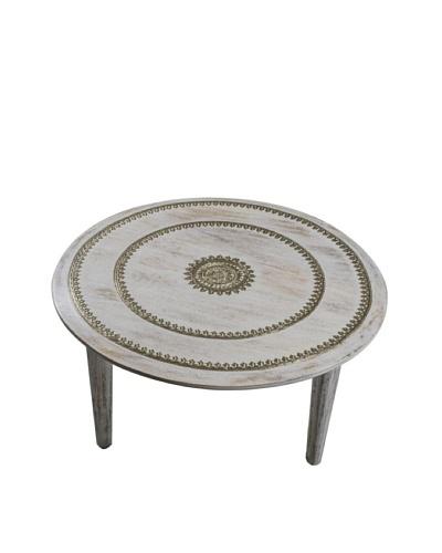 Uptown Down Goa Metal Table, Off White