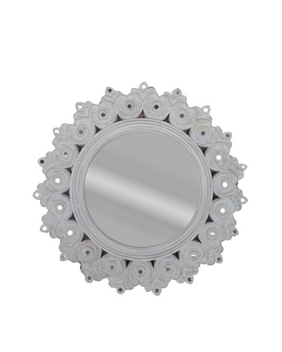 Uptown Down Sunflower Mirror, White