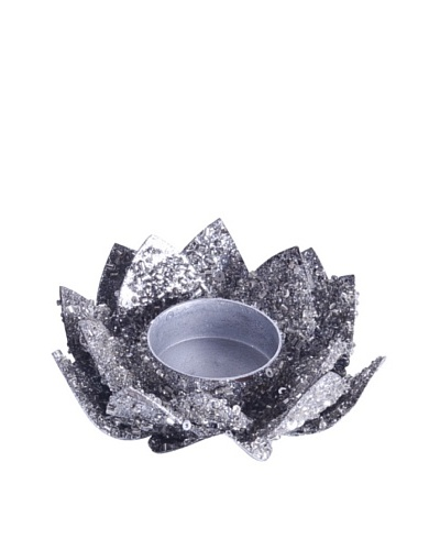 Uptown Down Set of 6 Lotus Candleholders, Silver