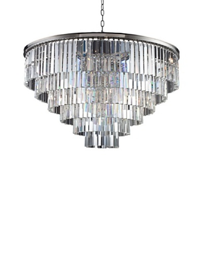 Urban Lights Ice Curtain Pendant, Large, Nickel