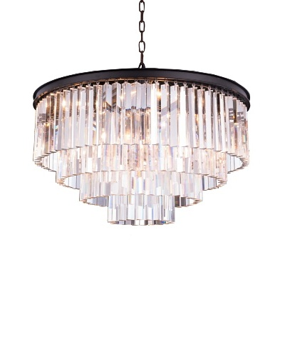 Urban Lights Ice Curtain Pendant, Medium, Bronze