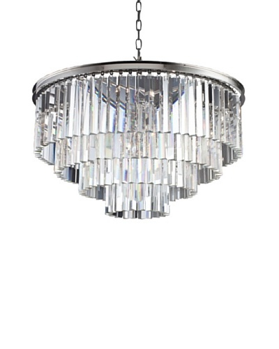 Urban Lights Ice Curtain Pendant, Medium, Nickel