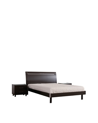Urban Spaces Lidotwin Bed, Coffee, Queen