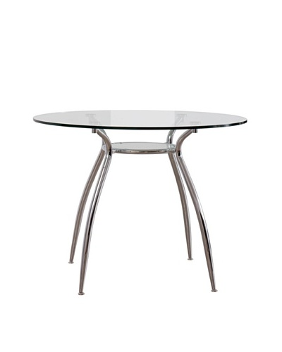 Urban Spaces Lido 2 Dining Table, Silver