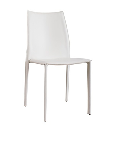 Urban Spaces Lido 2 Side Chair, White