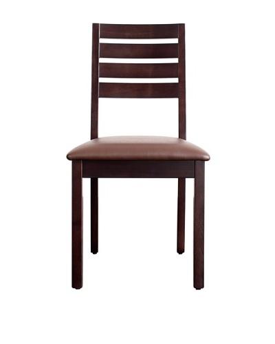 Urban Spaces Hudson Side Chair, Dark Walnut