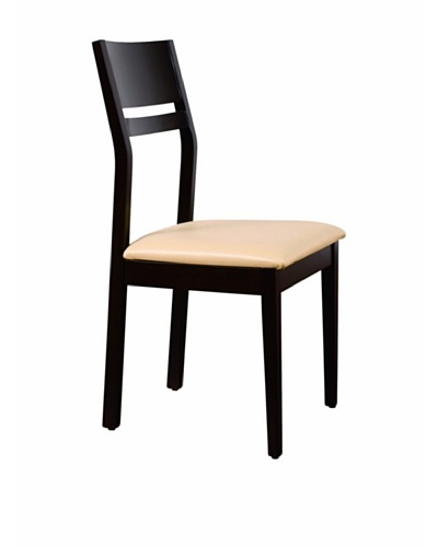 Urban Spaces Pisa Side Chair, Wenge