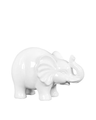 Small Ceramic Elephant, White