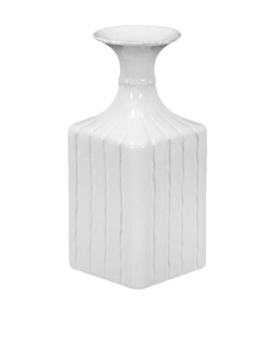 Ceramic Flower Pot, White