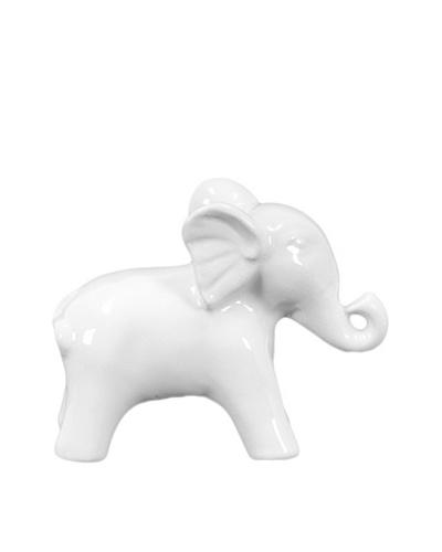 Ceramic Elephant, White