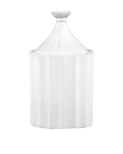 Ceramic Canister, White