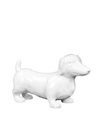 Ceramic Weiner Dog, White