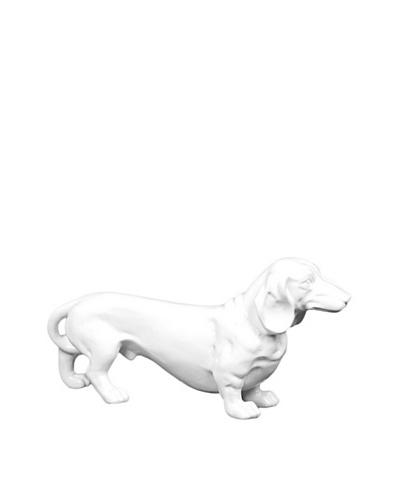 Ceramic Standing Dog, White