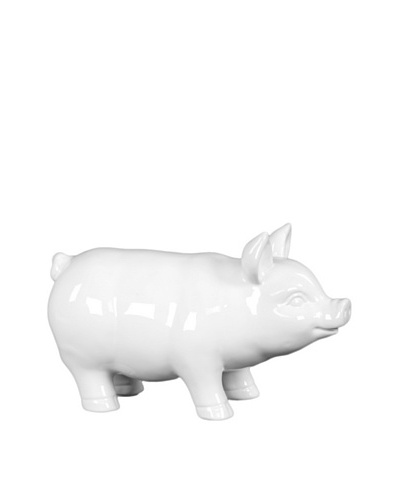 Large Ceramic Pig, White