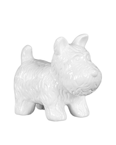Ceramic Dog, White