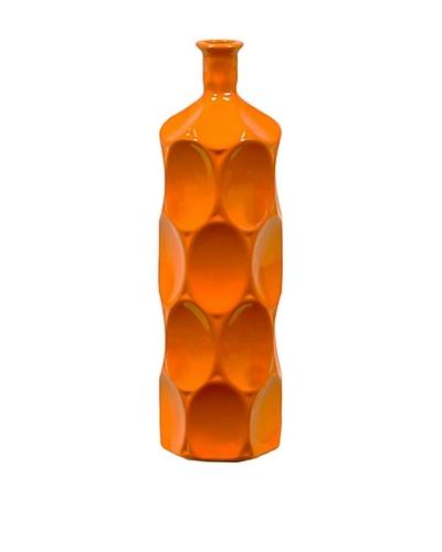 Small Ceramic Bottle, Orange