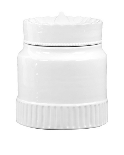 Small Ceramic Canister, White