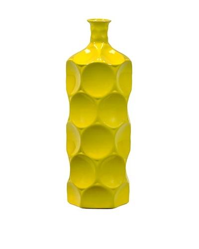 Small Ceramic Bottle, Yellow
