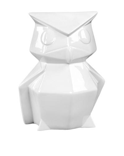 Ceramic Owl, White