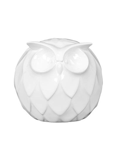 Large Ceramic Owl, White