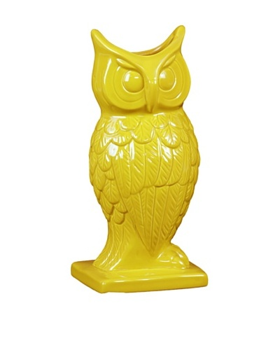 Large Ceramic Owl, Yellow