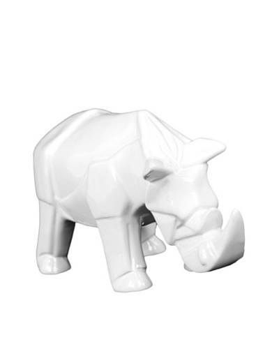 Ceramic Rhino, White