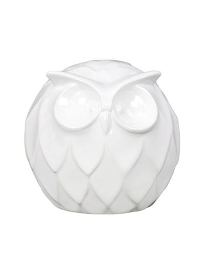Small Ceramic Owl, White