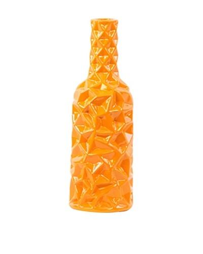 Large Ceramic Vase, Orange