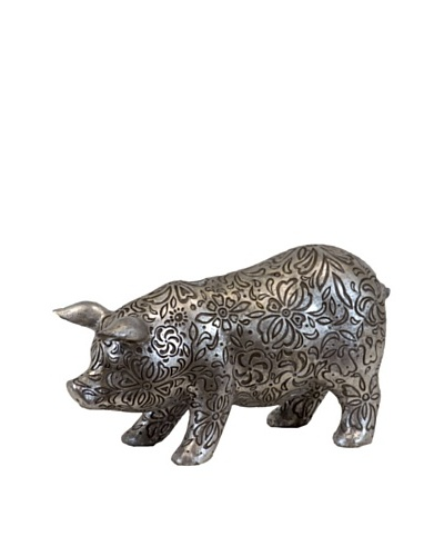 Antique Silver Pig
