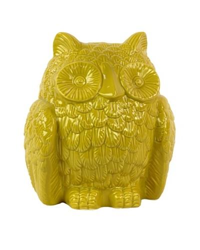 Ceramic Owl, Yellow