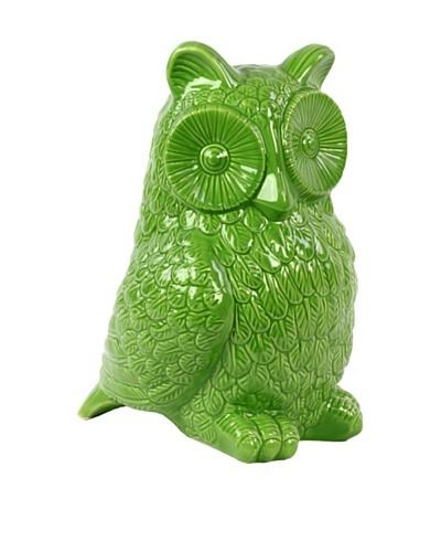 Ceramic Owl, Green