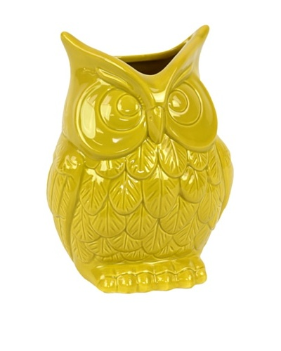 Small Ceramic Owl, Yellow