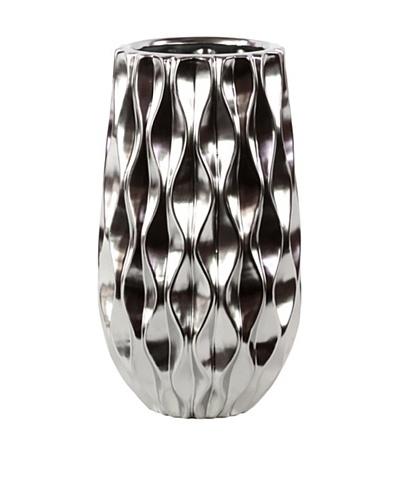 Ceramic Vase, Silver