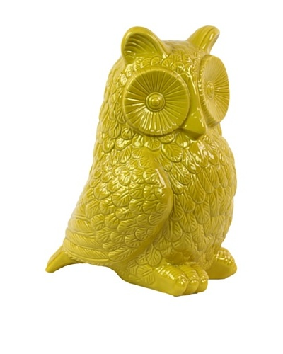 Medium Ceramic Owl, Yellow