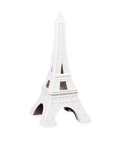 Urban Trends Collection Ceramic Eiffel Tower [White]