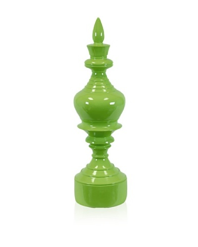 Urban Trends Collection Resin Finial [Green]