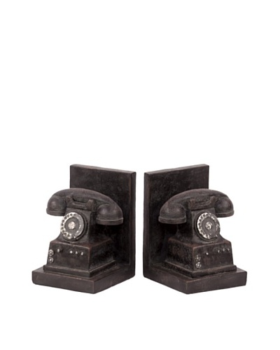 Urban Trends Collection Rotary Phone Bookends