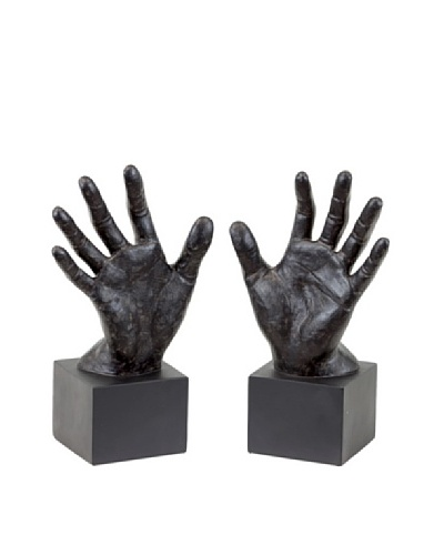 Urban Trends Collection Hand Bookends