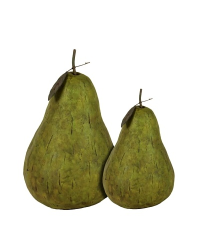 Urban Trends Collection Set of 2 Resin Pear Décor