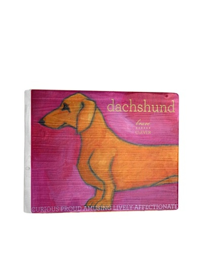 Ursula Dodge Dachshund Tan Reclaimed Wood Sign