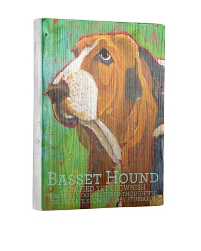 Ursula Dodge Bassett Hound Reclaimed Wood Portrait