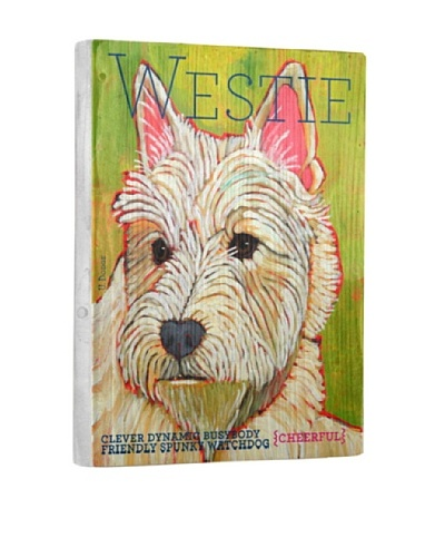 Ursula Dodge West Highland White Terrier Reclaimed Wood Portrait