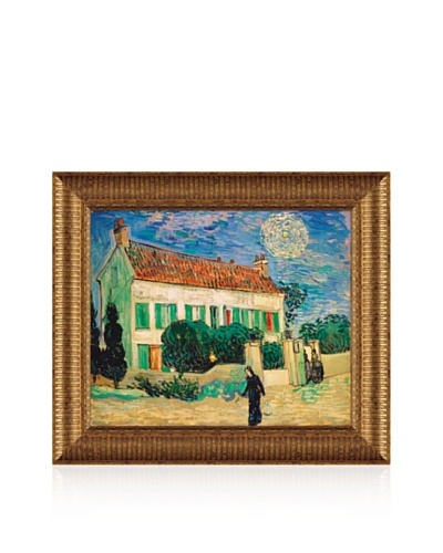Vincent van Gogh White House at Night, 1890 Framed Canvas