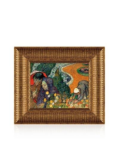Vincent van Gogh Memory Of The Garden at Etten (Ladies Of Arles), 1888 Framed Canvas