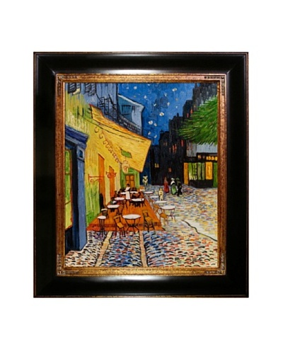 Hand-Painted Reproduction of Van Gogh Cafe Terrace at Night