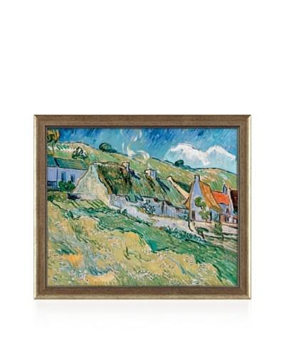 Vincent van Gogh Cottages, 1890 Framed Canvas