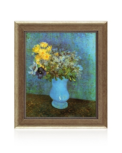 Vincent van Gogh Vase with Lilacs, Daisies and Anemone Framed Canvas