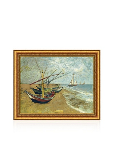 Vincent van Gogh Boats Saintes-Maries Framed Canvas