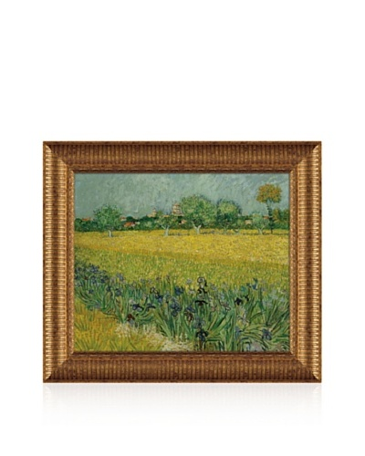 Vincent van Gogh Field with Flowers Near Arles, 1888 Framed Canvas