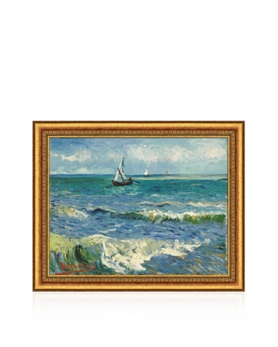 Vincent van Gogh The Sea at Les Saintes-Maries-De-La-Mer, 1888 Framed Canvas
